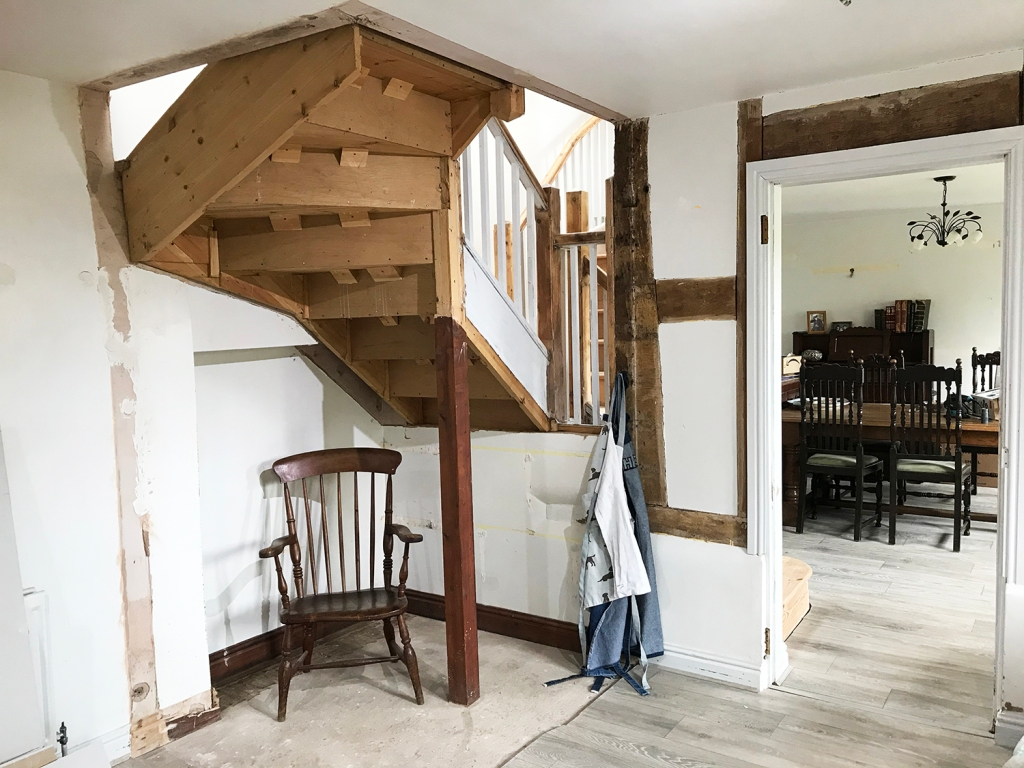 Removing the kitchen pantry to create space on the kitchen